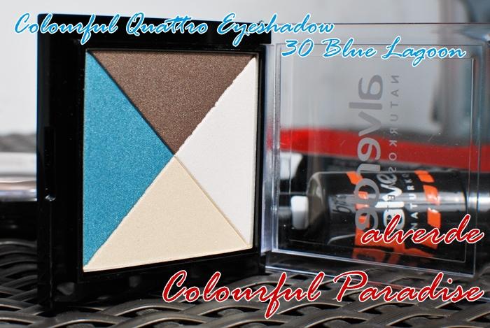 alverde colourful quattro eyeshadow 30 blue lagoon
