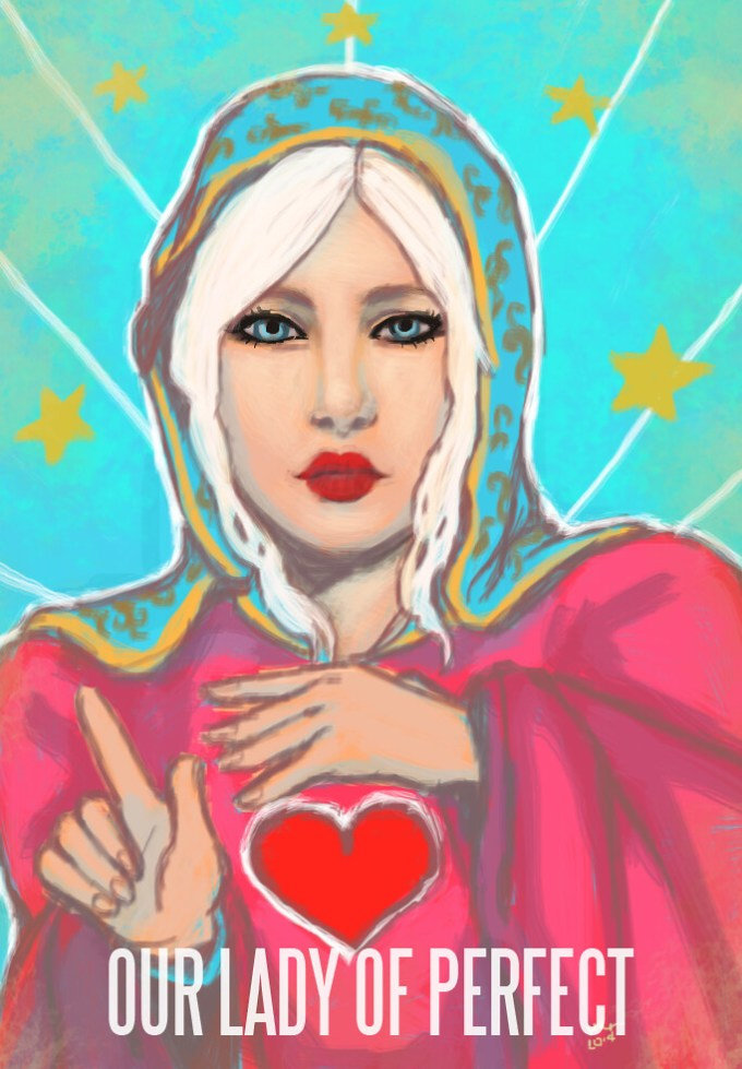[SOLD!] One Of A Kind SL Painting:  Our Lady Of Perfect