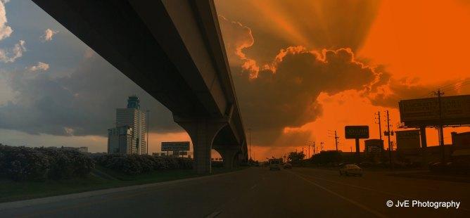 Houston at sundown