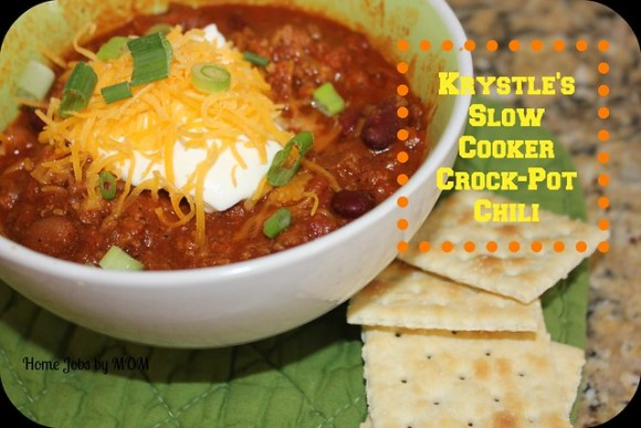 Krystle's Slow Cooker Crock-Pot Chili