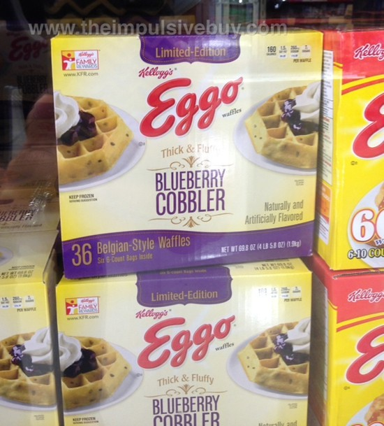 Kellogg's Limited Edition Thick & Fluffy Blueberry Cobbler Eggo Waffles