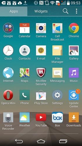 App tray ของ LG G3