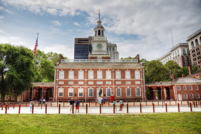 Independence Hall from Independence Park.