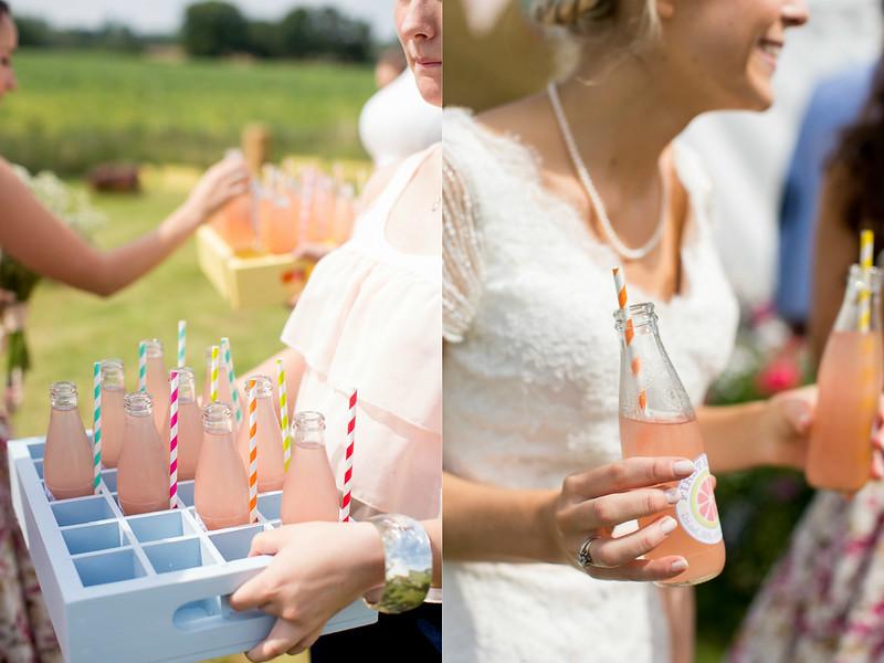 wedding homemade pink lemonade