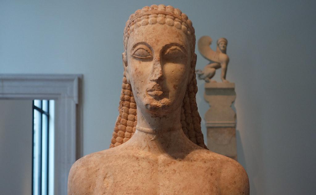 New York Kouros Bust Marble Statue Of A Kouros New