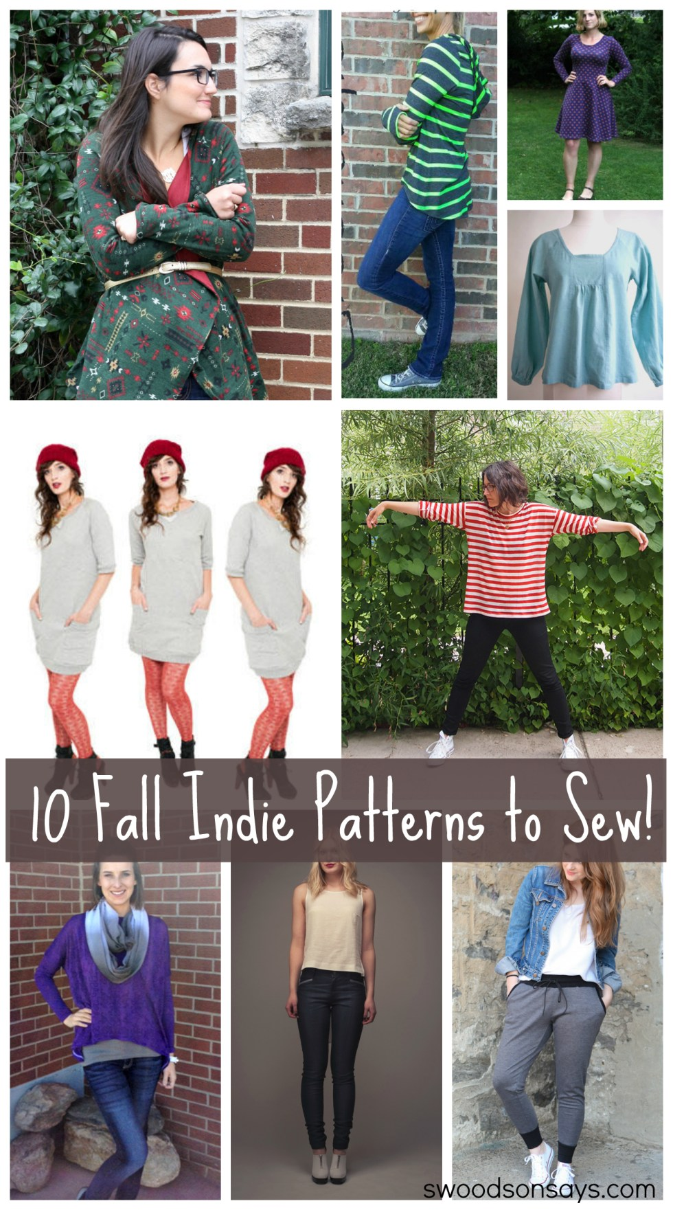 10 Indie Patterns to Sew for Fall