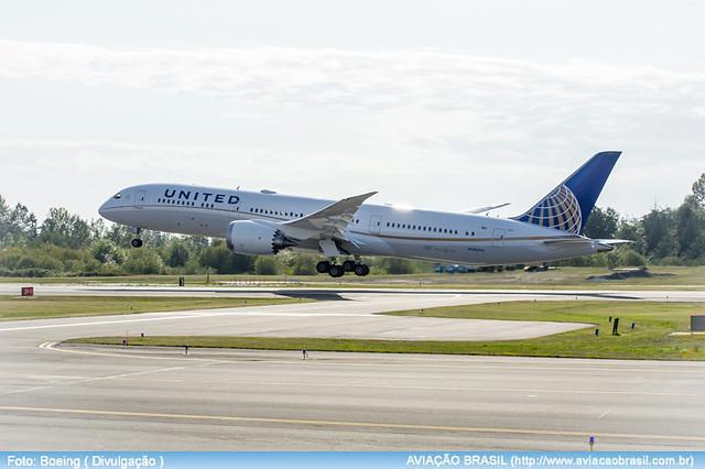 , United recebe seu primeiro Boeing 787-9, Portal Aviação Brasil