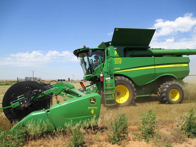 Harvesting in Kiowa