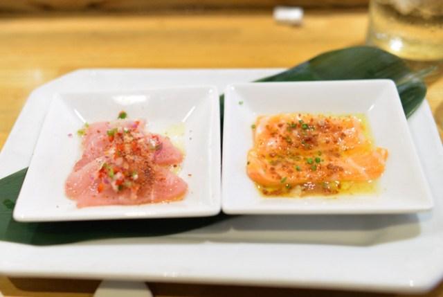 Albacore jalapeño Salmon Belly dried miso