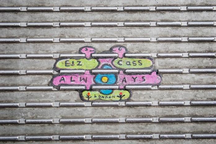 Millennium Bridge Gum Art