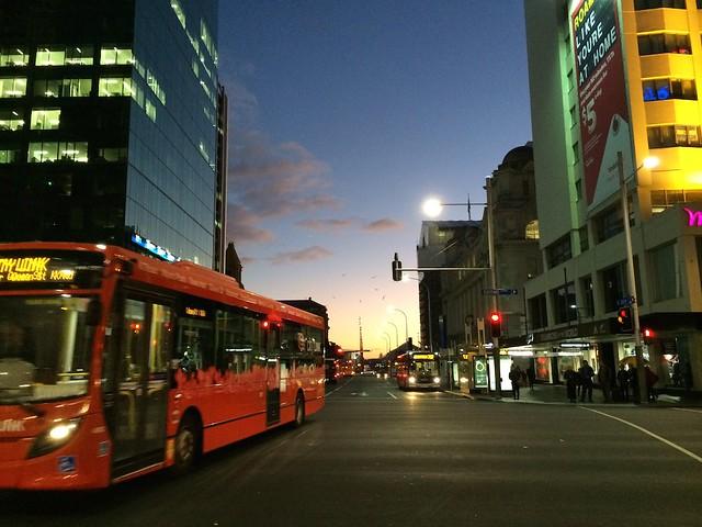 Sunrise in Auckland