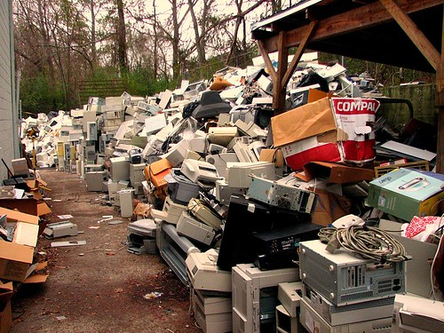 Electronic waste courtesy Curtis Palmer and Wikimedia Commons