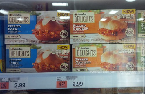 Jimmy Dean Delights Pulled Pork and Pulled Chicken Sandwiches