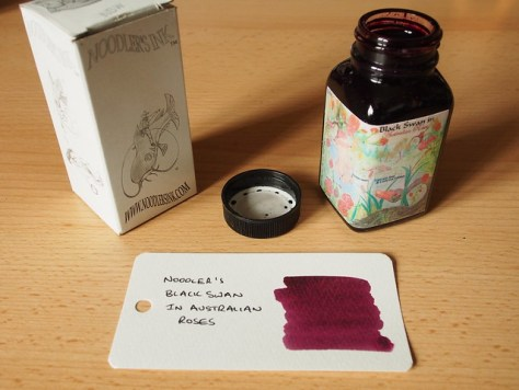 Noodler's Black Swan in Australian Roses - Ink Review