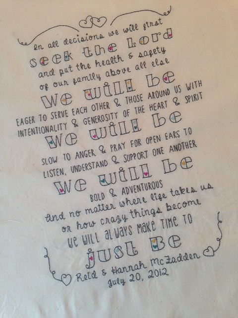 Custom embroidery family mission statement