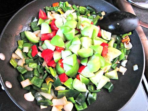 Adding Tomatillos and Tomatoes