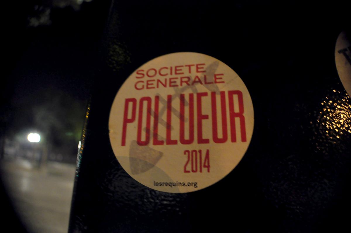 Société Générale Pollueur 2014