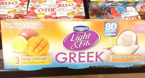 Dannon Light & Fit Greek Mango Lemonade and Toasted Coconut Vanilla