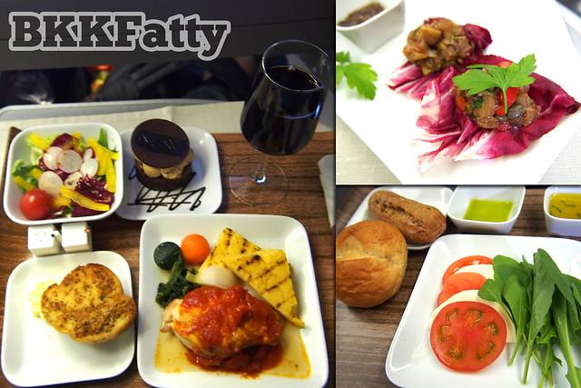 delta business elite meals with wine