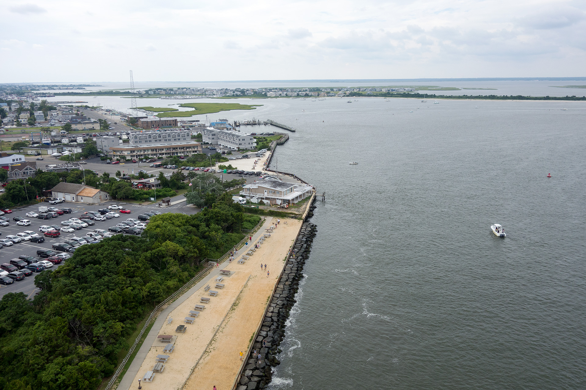 The view from the top of the Barnegat Lighthouse.