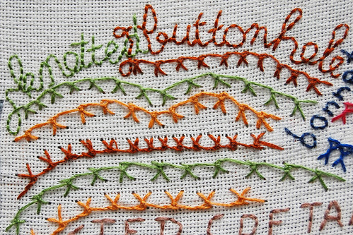 TAST 2012 #39: Knotted Buttonhole Stitch