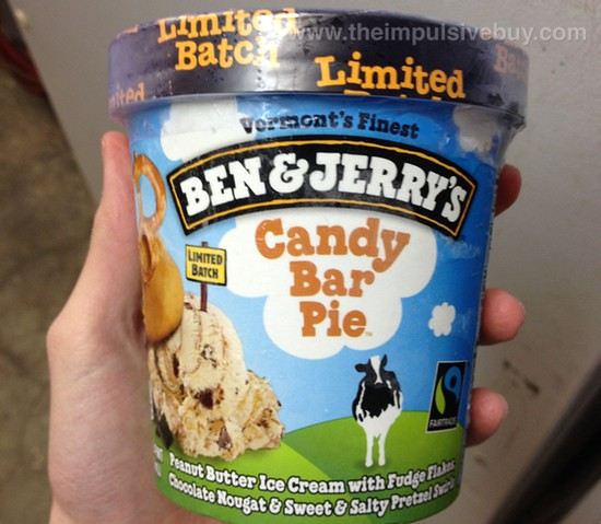 Ben & Jerry's Limited Batch Candy Bar Pie Ice Cream