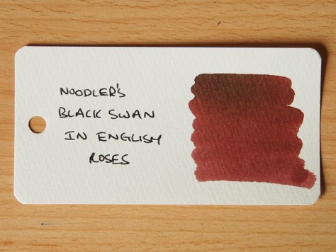 Noodler's Black Swan in English Roses - Word Card - Ink Review