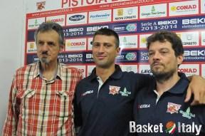 GTG Pistoia, Presidente Roberto Maltinti, Daniele Cinciarini e il vice coach Fabio Bongi