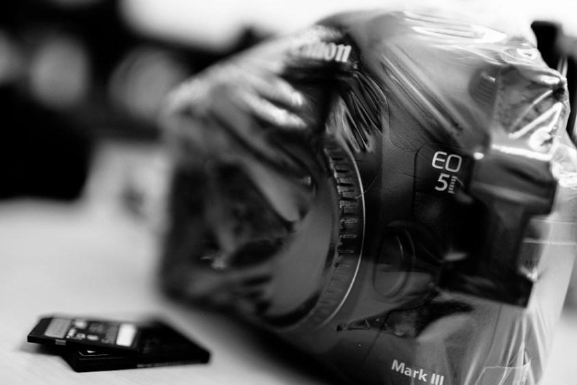 De camerasensor en een laser