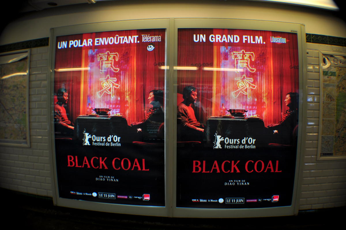 Black Coal metro poster x2