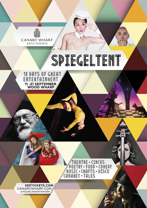 John Sinclair + The Founder Effect – Spiegeltent, London 17th Sept poster