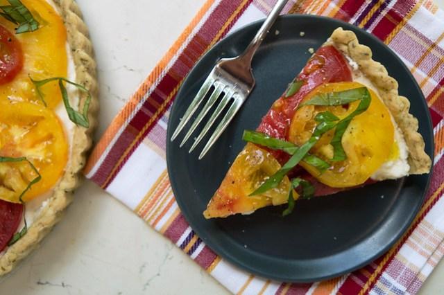 wedge of tomato tart