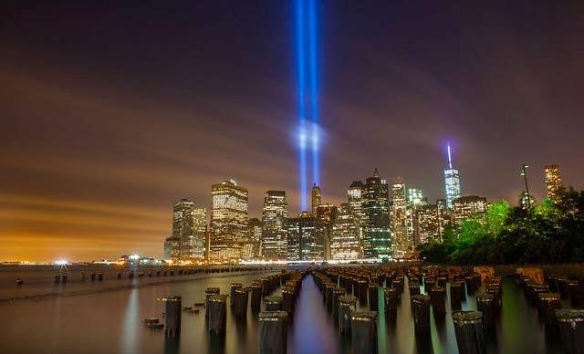 The September 11th Memorial Tribute In Light 2014 New York City