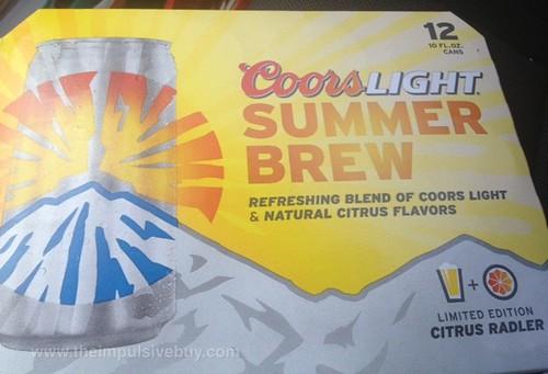 Coors Light Limited Edition Citrus Radler Summer Brew