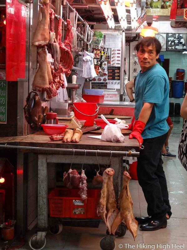 Fleischverkäufer in Hongkong