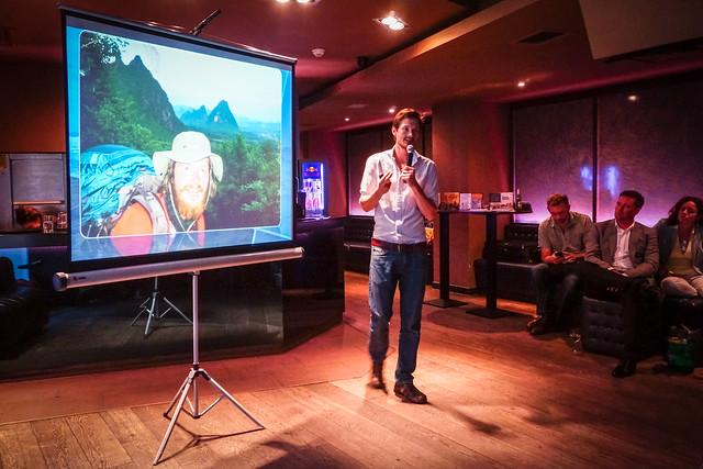 Leon McCarron at Explorers Connect London