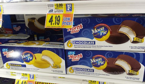 North Star Moon Pie Ice Cream Sandwiches (Banana and Chocolate)
