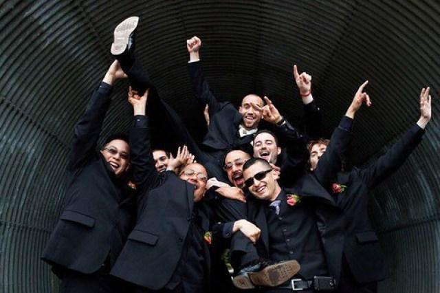 groom and groomsmen fun photo