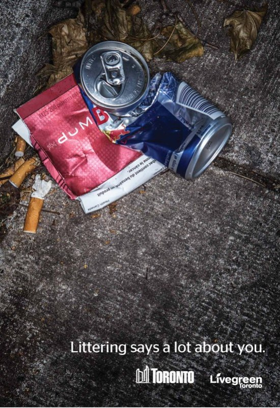 Littering Says a Lot about you 1