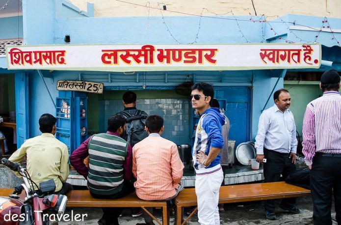 Shiv Lassi shop Ramnagar Varanasi