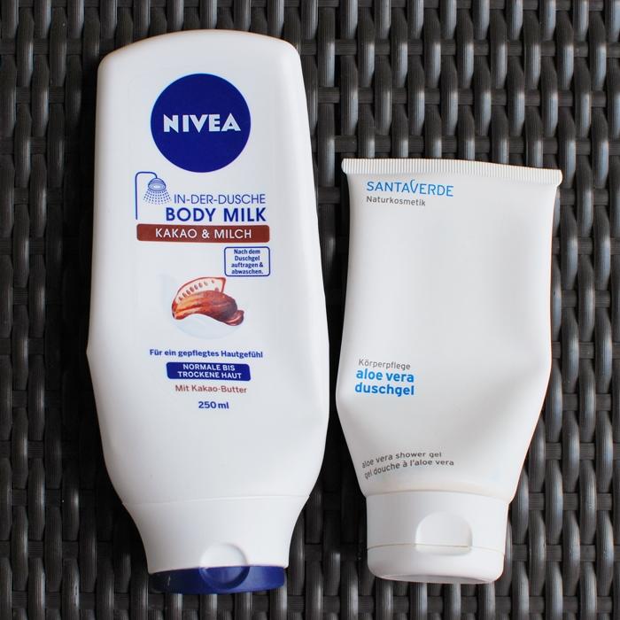 nivea in der dusche kakao & milch | santaverde aloe vera duschgel