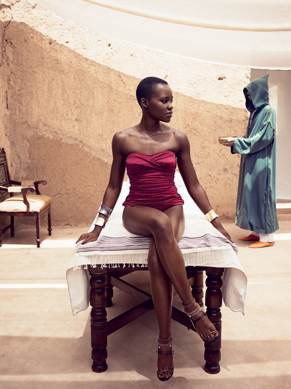 Lupita Nyong'o in Morocco for Vogue Magazine July 2014