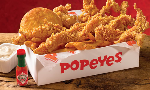 Popeyes Louisiana Kitchen: Pollo Frito al Estilo Cajún