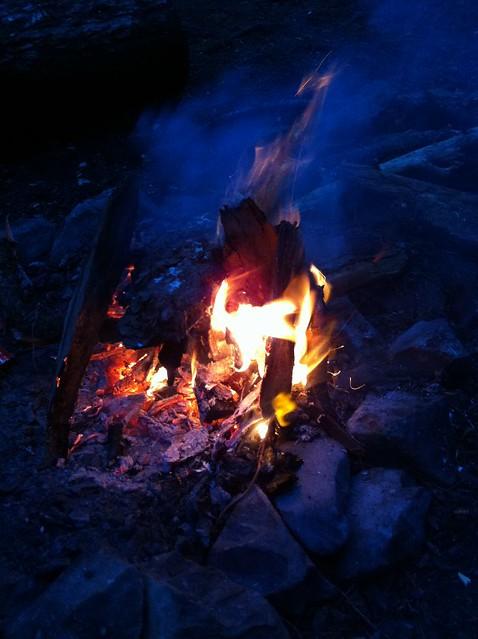 Fire At Martin Creek Camp