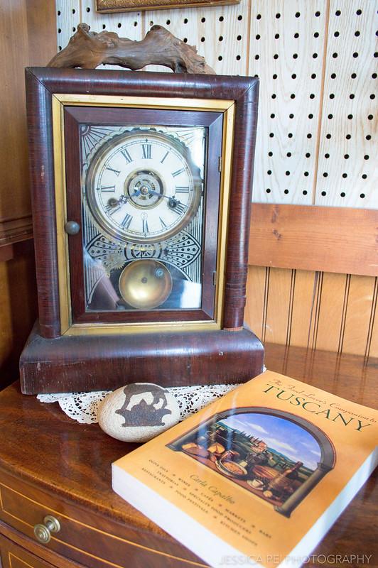 old vintage antique clock book