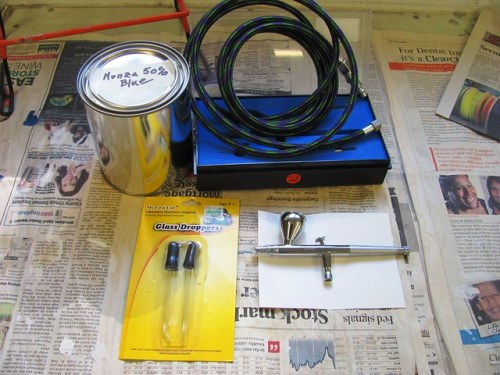 Air Brush Kit, Hose and Eye Droppers