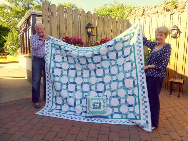 Mum & Dad's Golden Wedding Anniversary Quilt 22/8/14