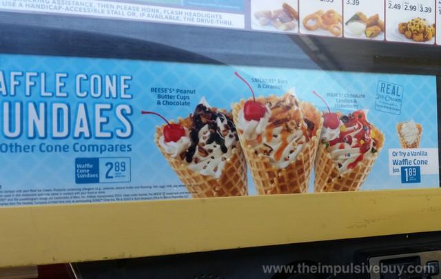 Sonic Waffle Cone Sundaes