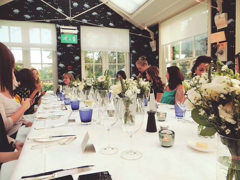 Chewton Glen dinner table