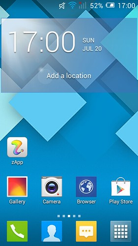 Home screen ของ Alcatel OneTouch Pop C7